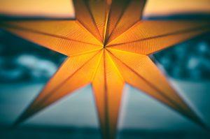 yellow Christmas star decor